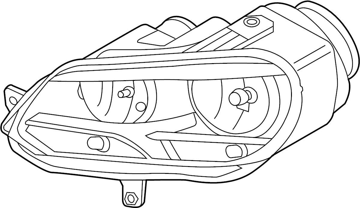 volkswagen headlight assembly diagram
