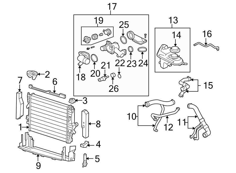 2004 jaguar xj8 radiator parts diagram