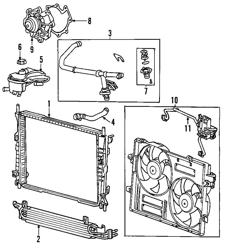 jaguar engine cooling fan module
