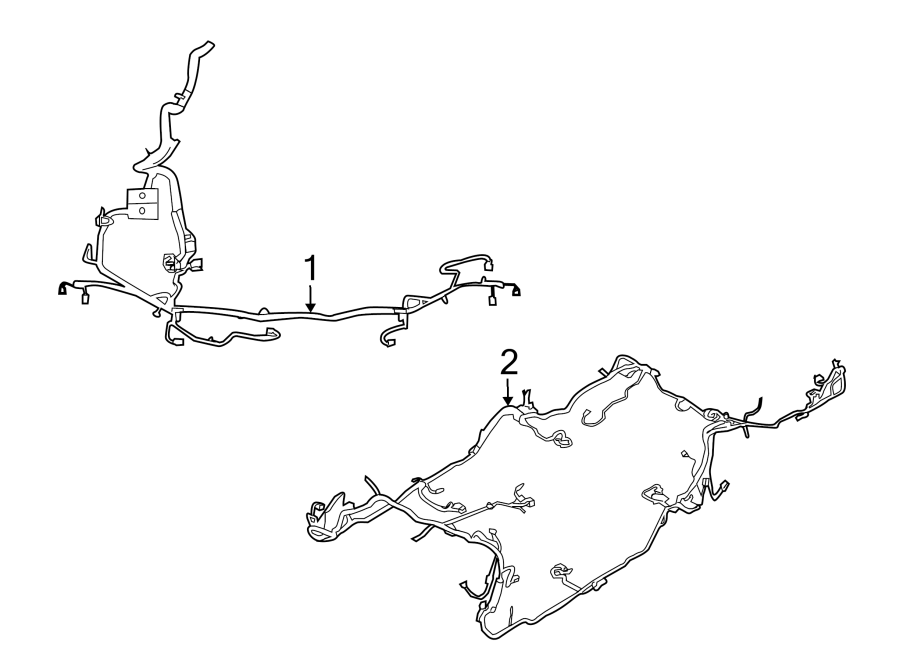1998 mustang rear body wiring harness diagram