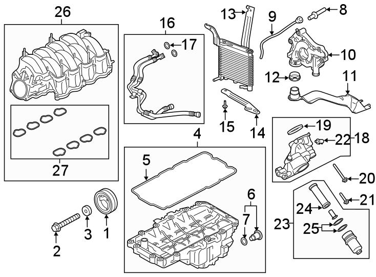 58 liter ford engine diagram
