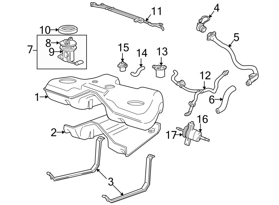 2007 ford freestyle Motor diagram
