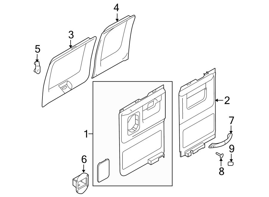 Ford E 250 Rear Door Diagram