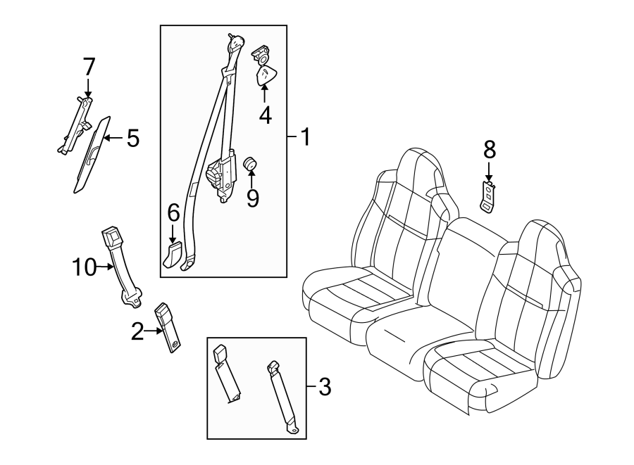 ford seat belt retractor diagrams