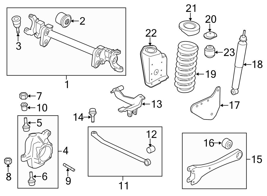 ford f 250 super duty suspension diagram