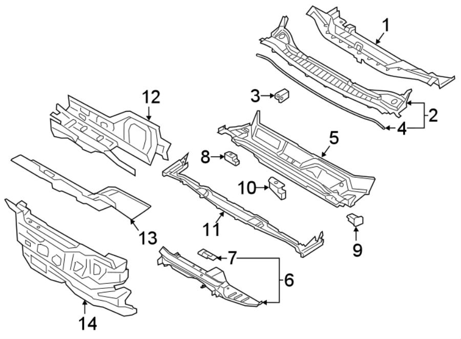 2007 ford edge engine compartment diagram