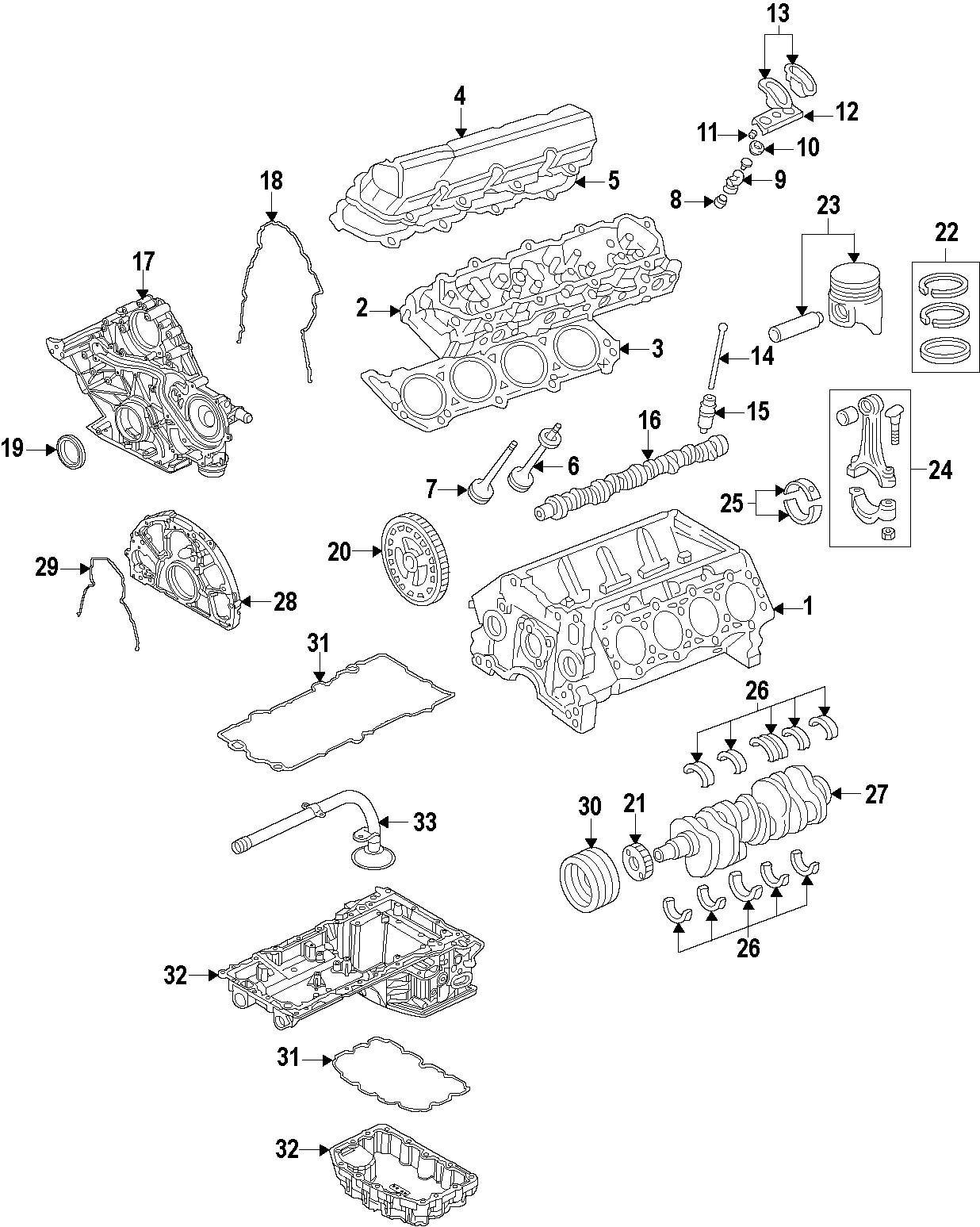 ford 6 7 oil cooler diagram