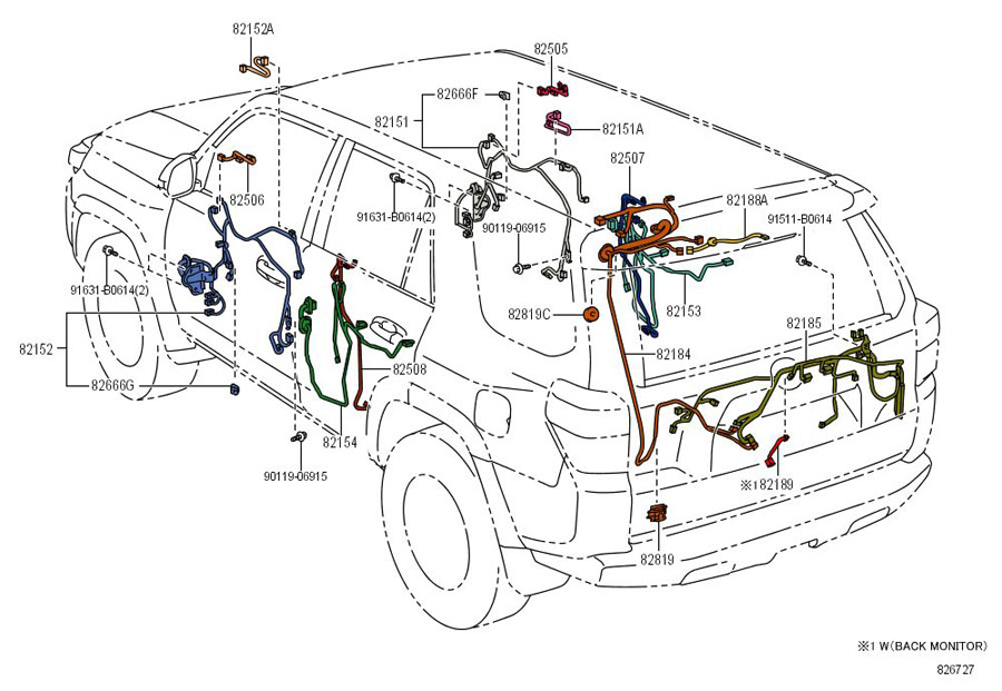 toyota wiring harness diagram 4runner limited