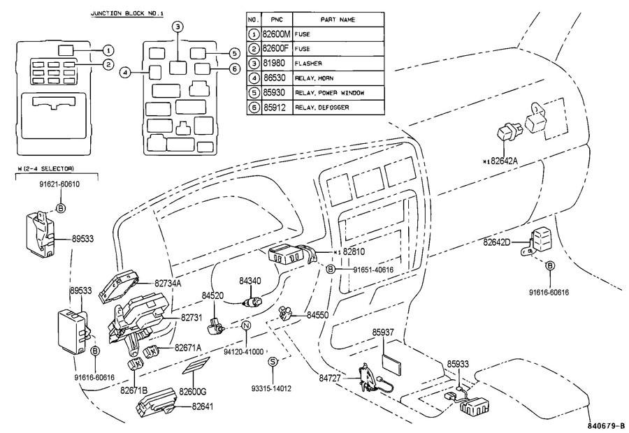 2006 4runner fuse box