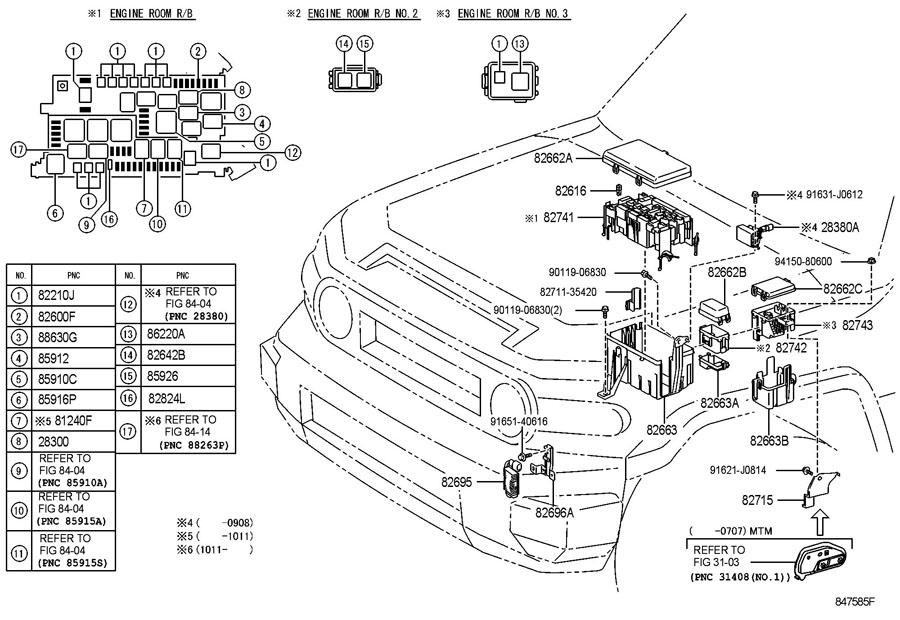 fj cruiser 2007 wiring harness diagram