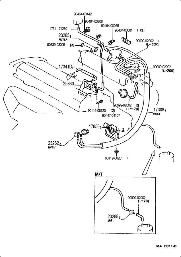 87 toyota mr2 vacuum diagrams