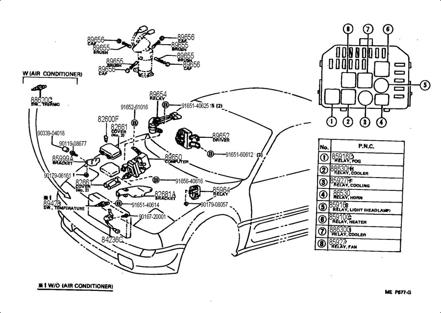 1991 toyota mr2 fuse box diagram