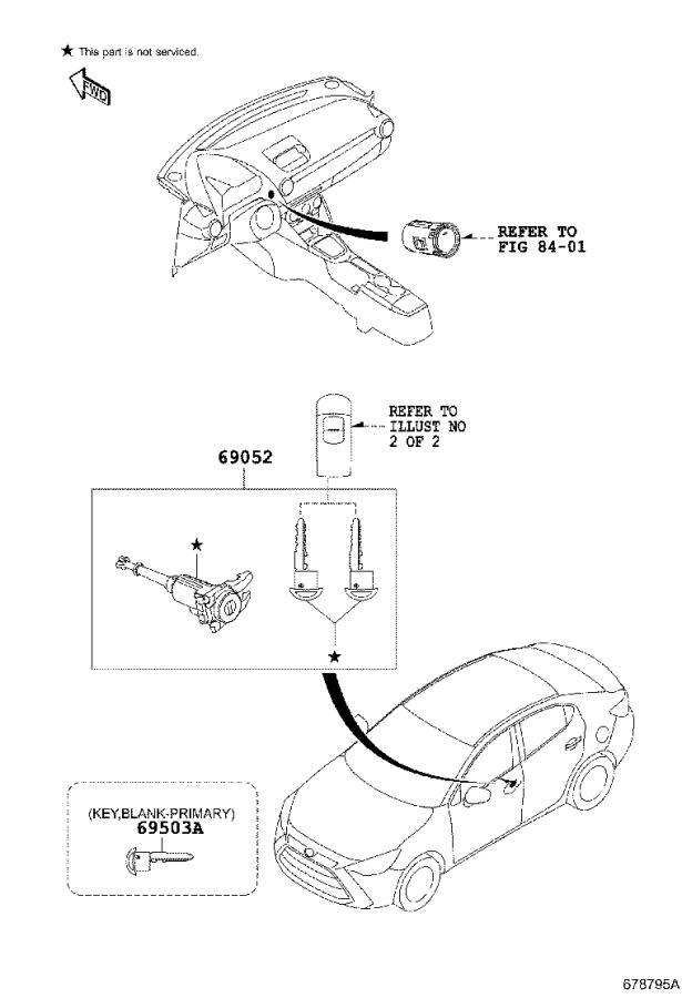 toyota key fob diagram