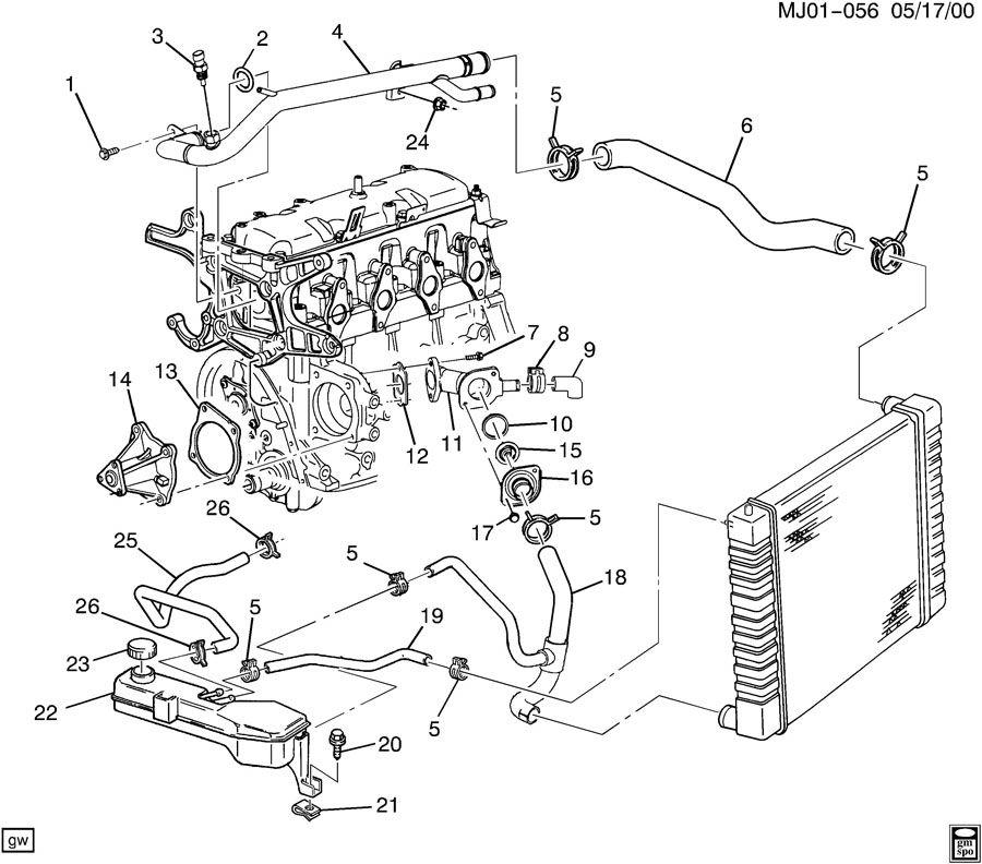 Engine Cooling Hose Diagram On 99 Pontiac Grand Am Wiring Diagram