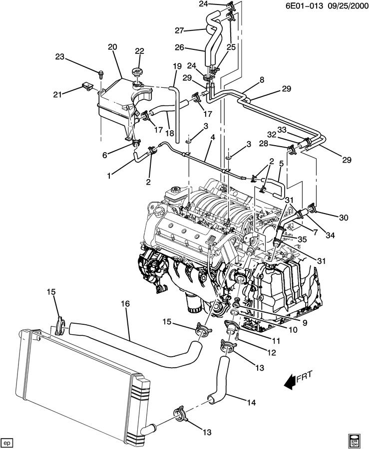 2000 cadillac northstar engine diagram