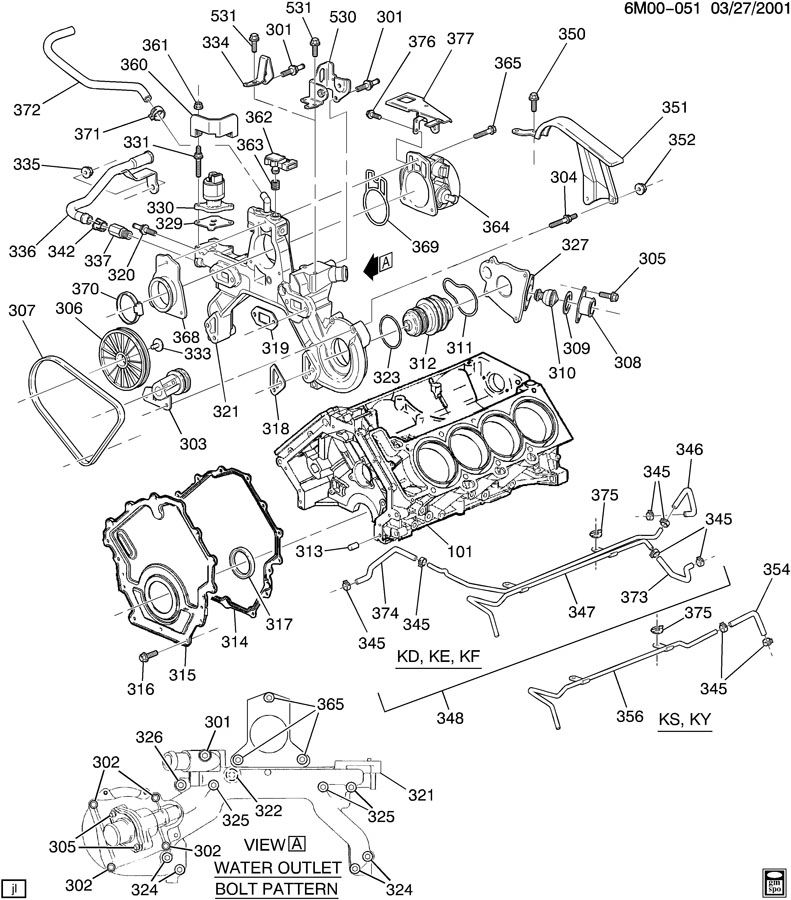 1998 cadillac north star engine diagram