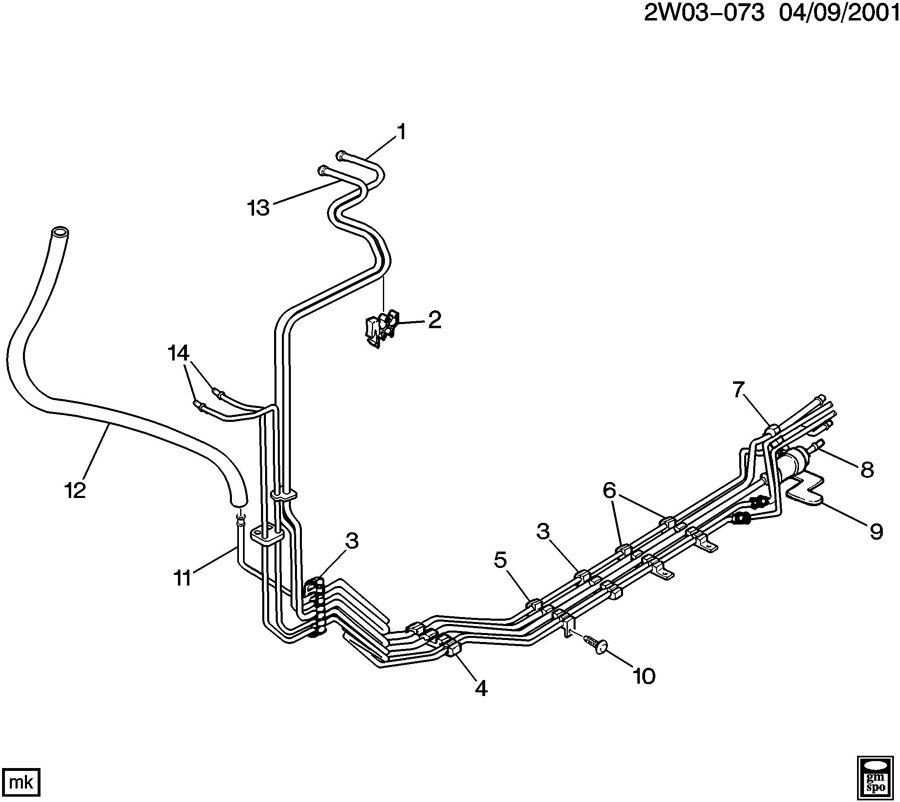 pontiac grand prix fuel line diagram