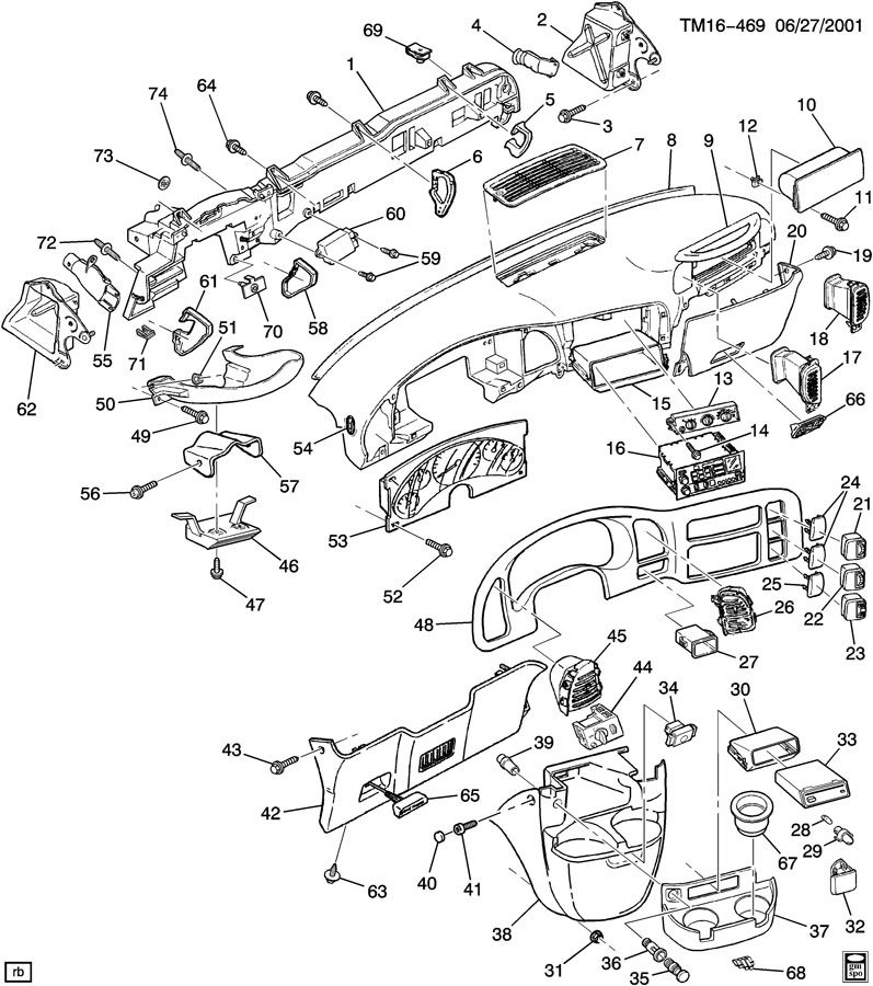 2008 Cadillac Escalade Instrument Panel Wiring Source