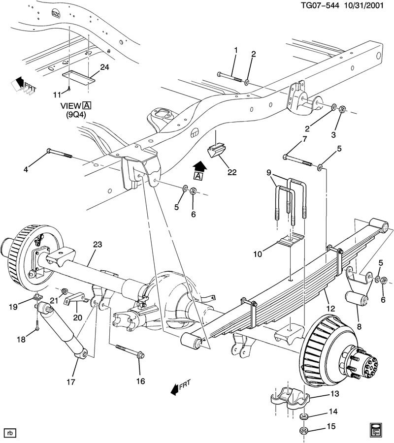 2000 gmc yukon rear axle diagram