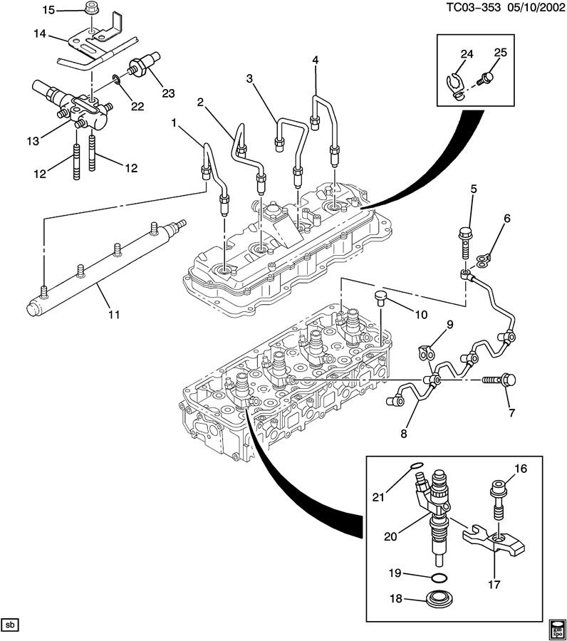 03 duramax fuel filter housing diagram