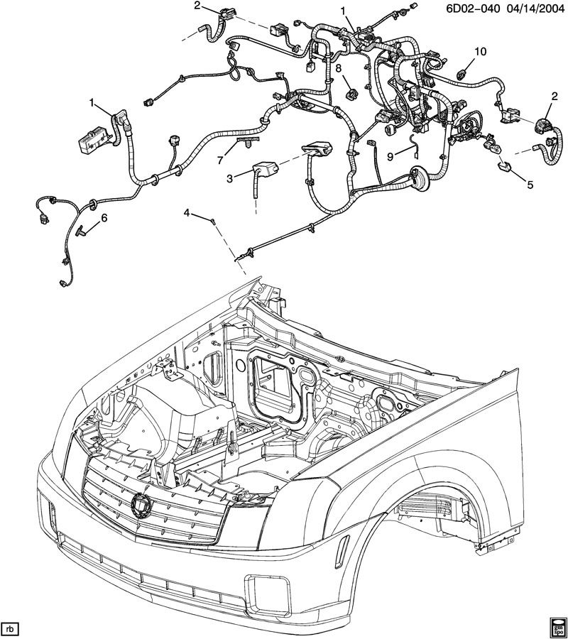 2006 cadillac cts wiring harness