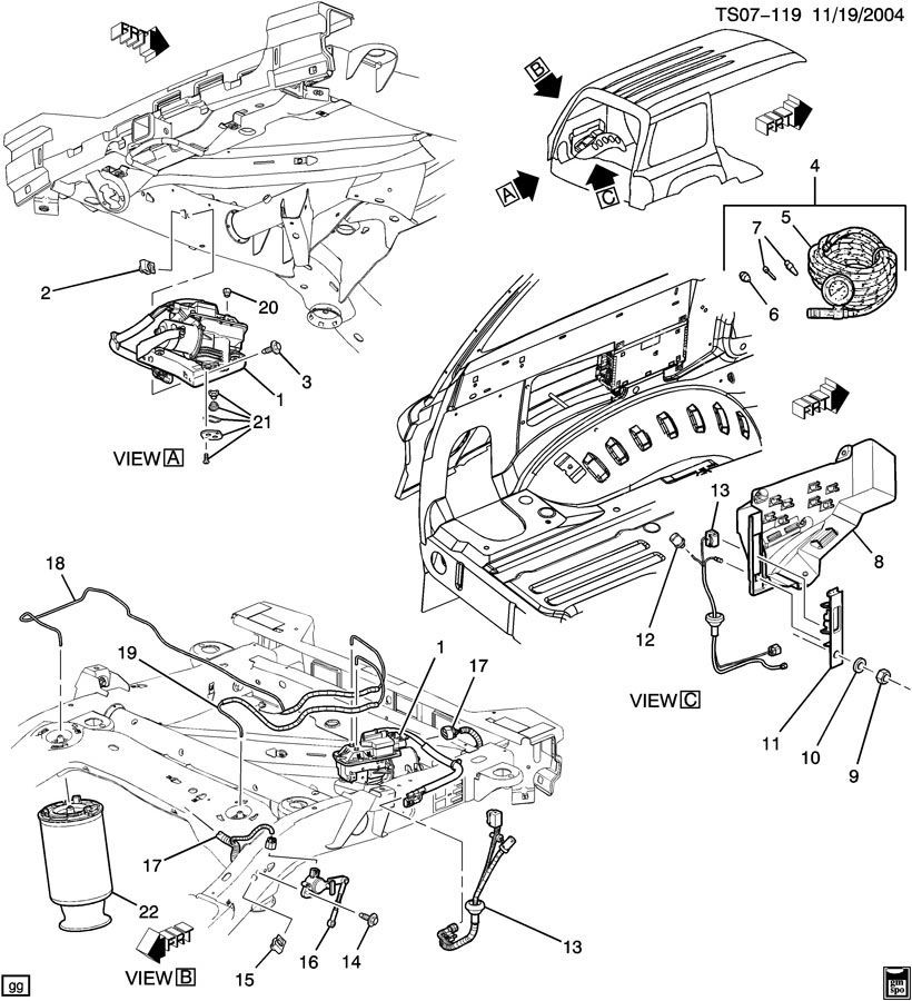 gmc envoy 2006 motor diagram