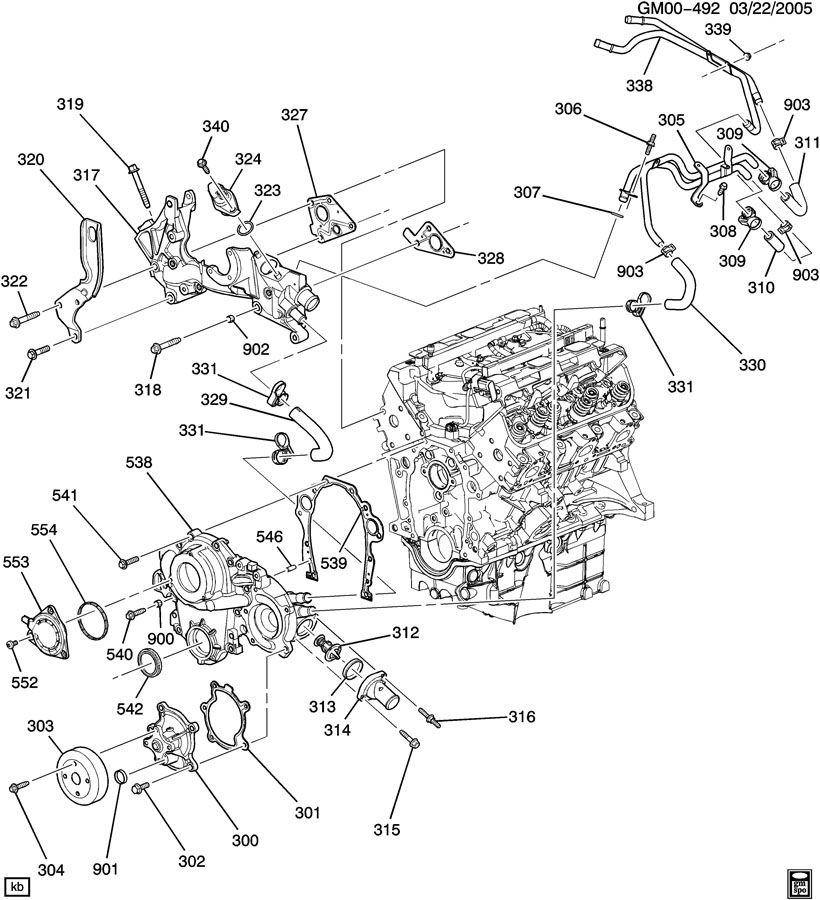 pontiac g6 2 4 engine diagram water pump