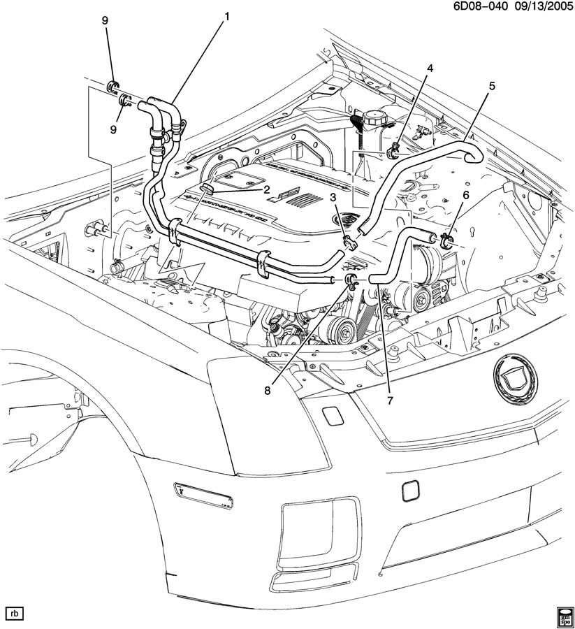 2012 cadillac srx engine diagram