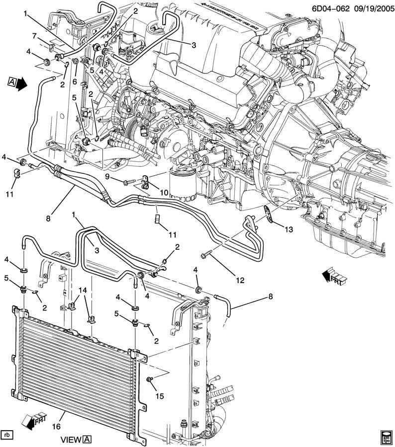 2007 gmc acadia engine diagram