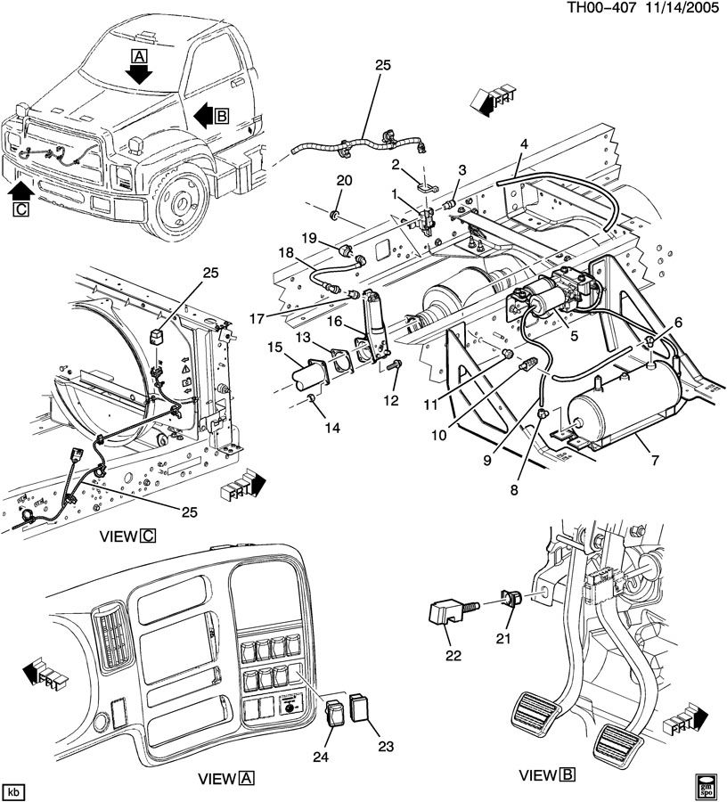 chevrolet c5500 engine diagram