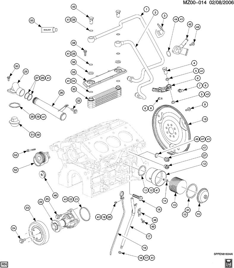 200 saturn sl2 Motor diagram
