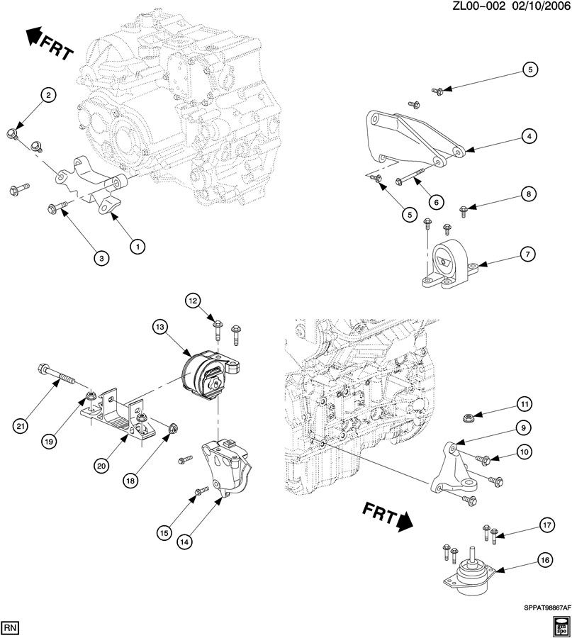 2005 saturn vue transmission diagram
