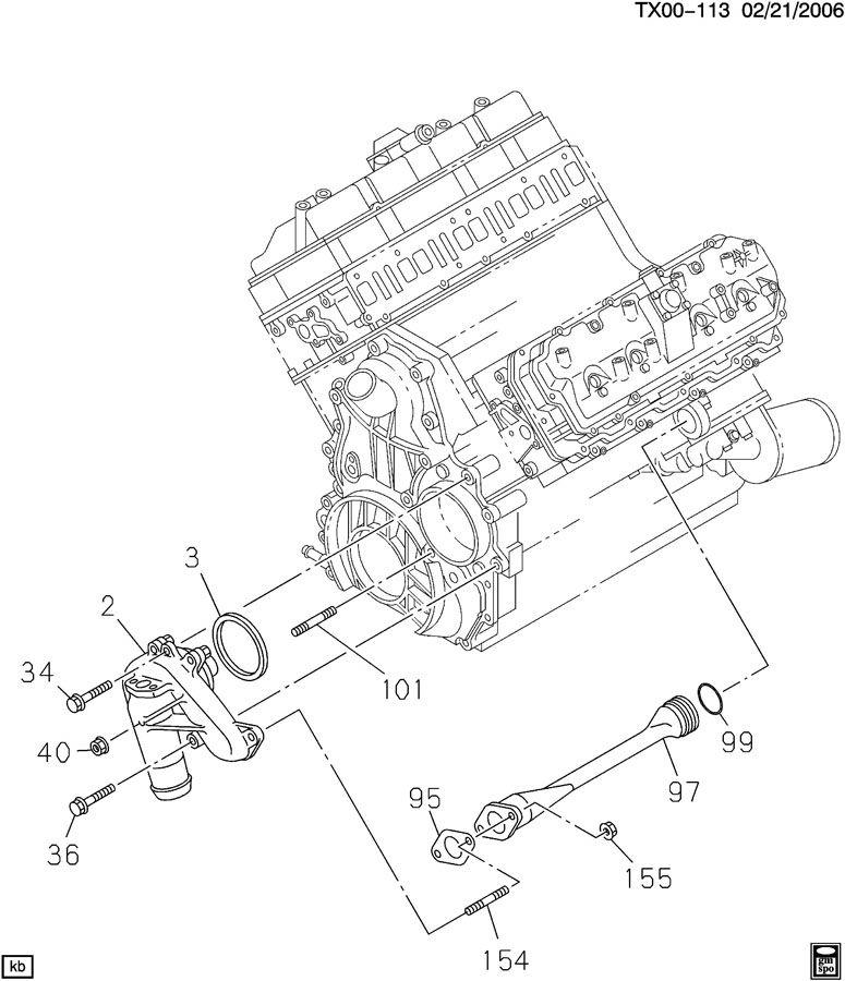 duramax engine diagram labeled