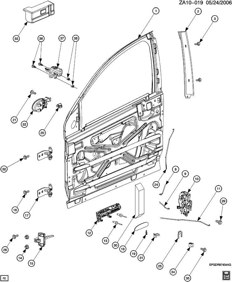 saturn ion door parts diagram