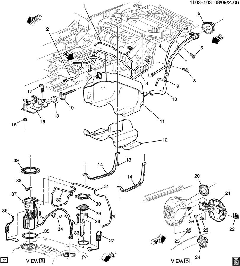 2007 chevy aveo fuel filter location