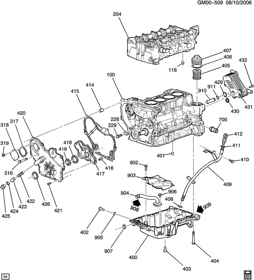 2007 pontiac g6 4 cylinder engine diagram