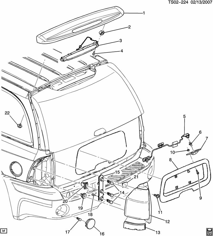 molding 2002 chevy trailblazer diagram