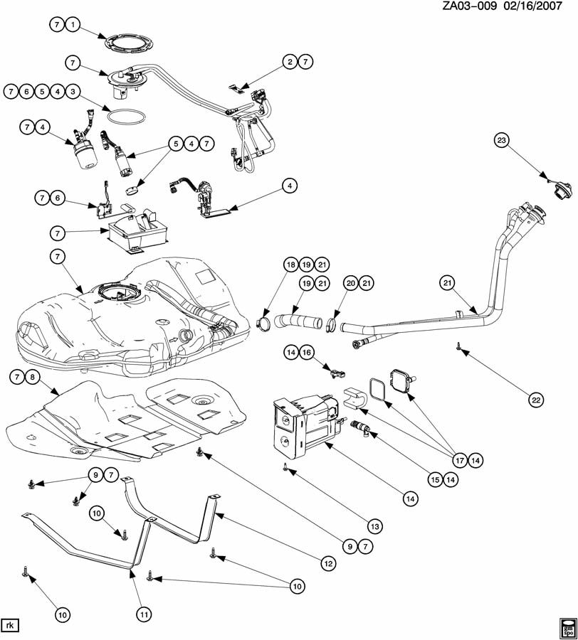 saturn ion fuel system diagram