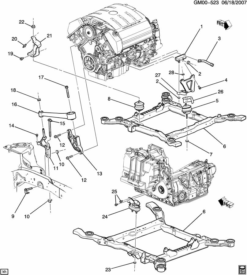 2007 cadillac dts engine diagram