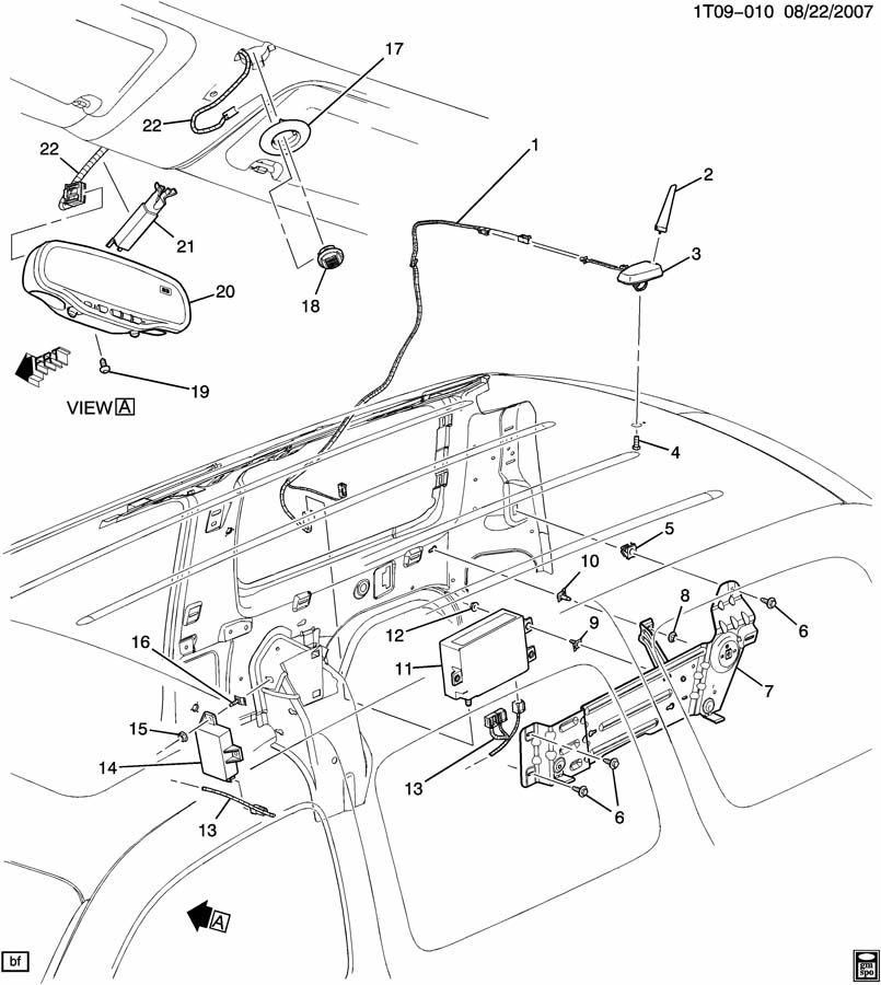 gm onstar rear view mirror wire diagram