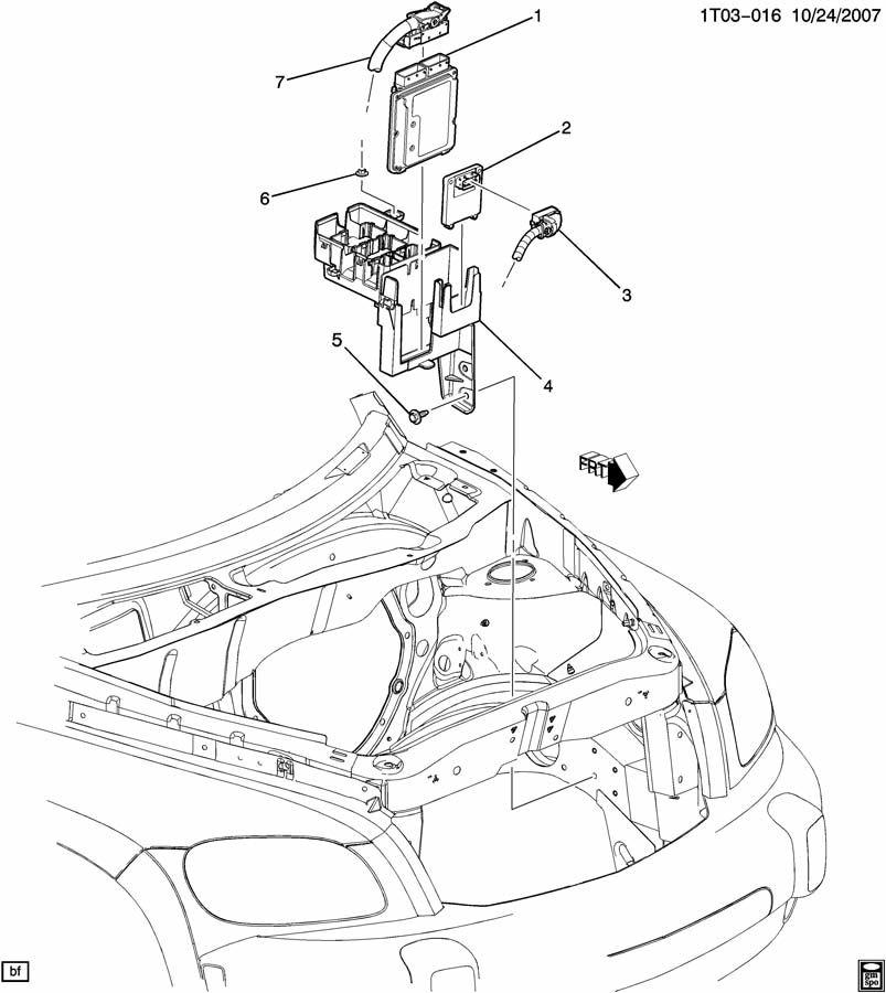 2008 2009 2010 chevrolet hhr ecm engine control module part