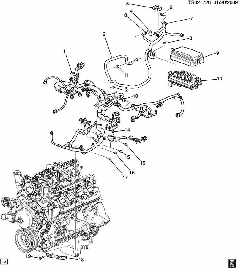5 3 engine wiring harness