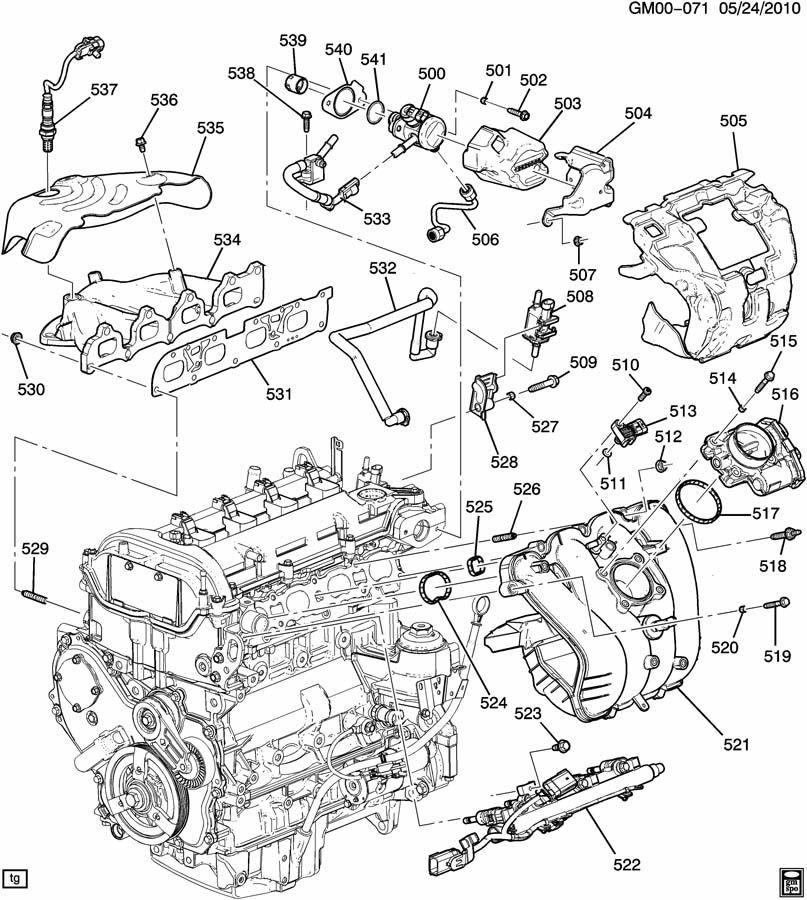 2011 gmc terrain 2.4 engine diagram