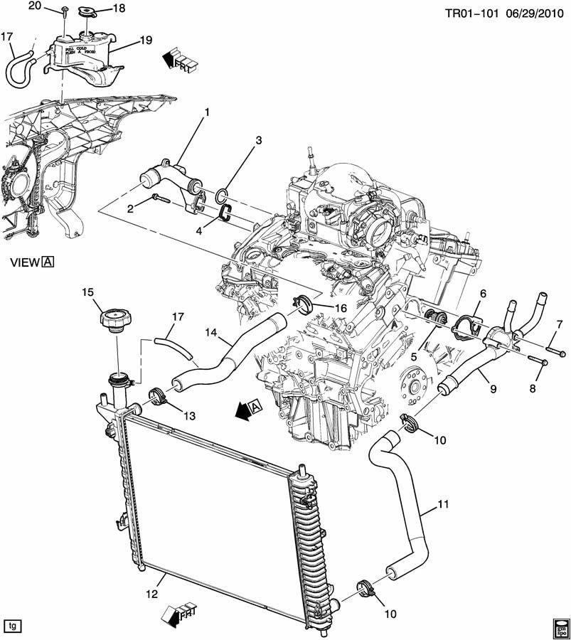 2011 chevy traverse engine diagram