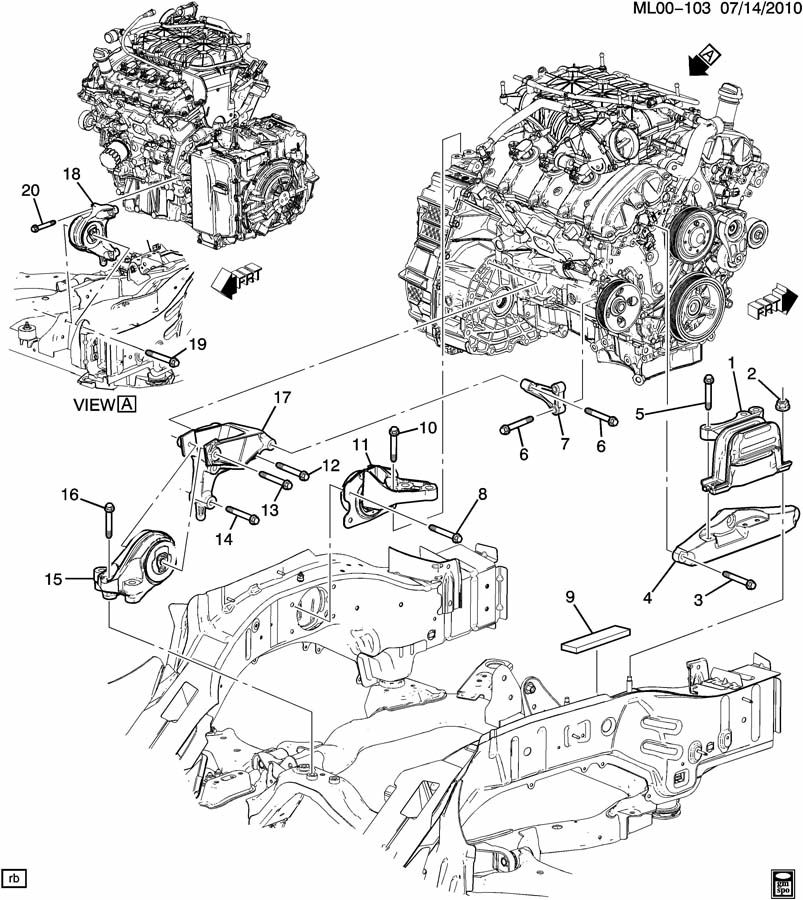 gmc terrain engine parts diagram