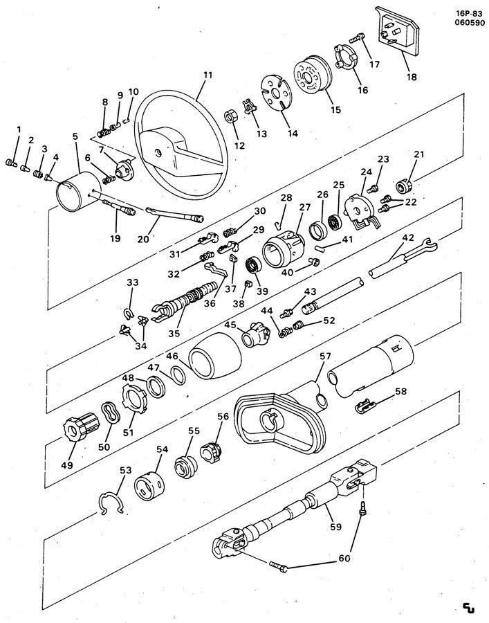 gmc truck tilt column wiring diagram