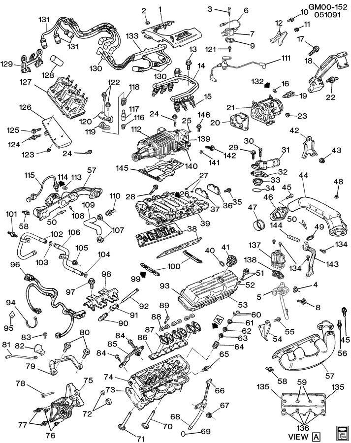 gm 3100 engine coolant diagram