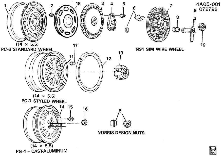 buick century hubcaps