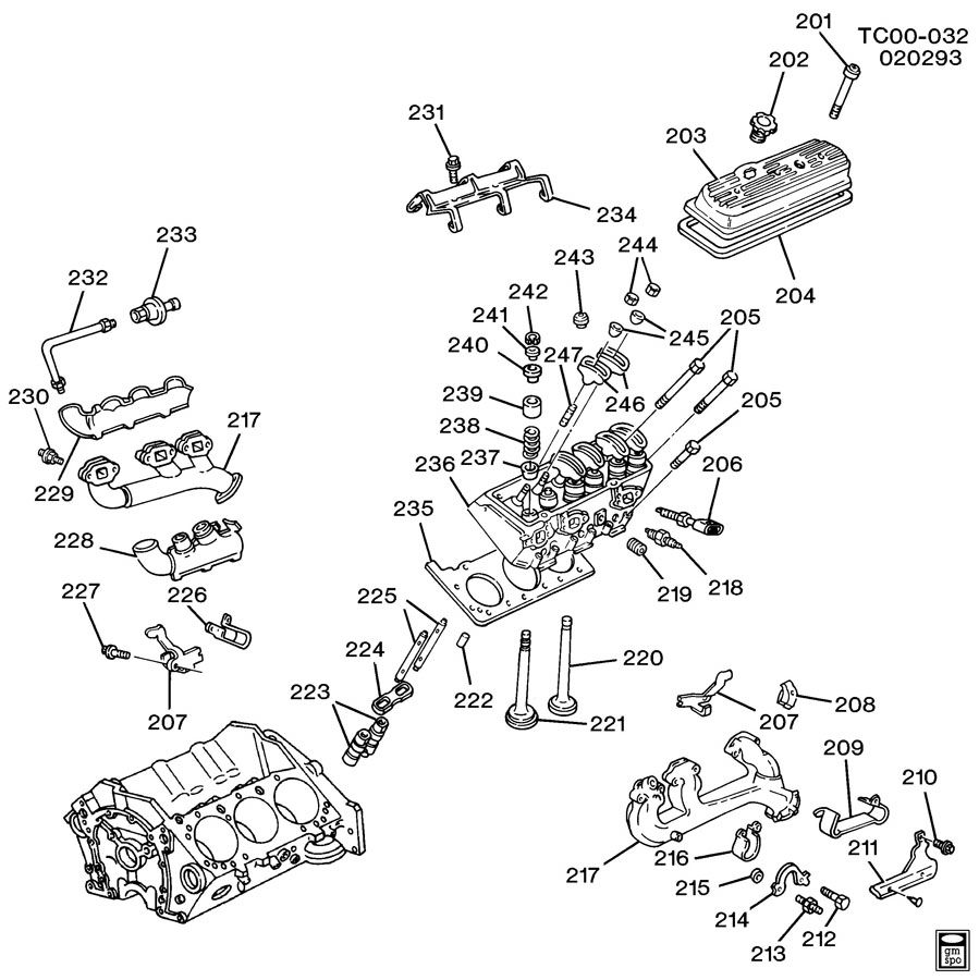 marine 4 3l vortec engine diagram