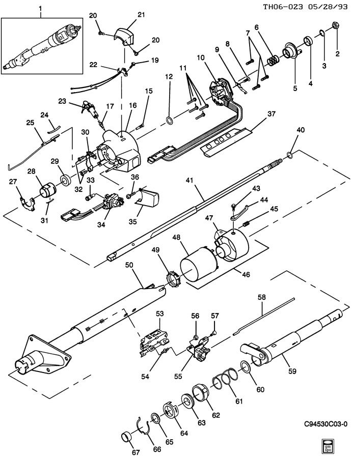 steering column wiring diagram for 2002 gmc